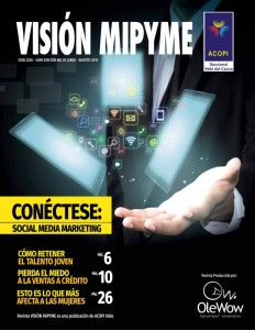 Portada Revista Visión Mipyme Acopi Valle